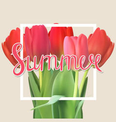 Hello summer natural background vector