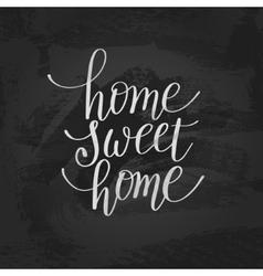Home sweet handwritten calligraphy lettering vector