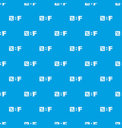 Letters bf black friday and percentage pattern vector
