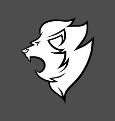 lion head symbol icon black and white vector image