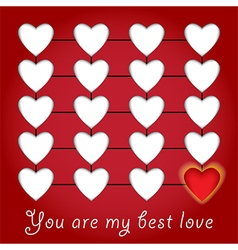 Love background concept vector image