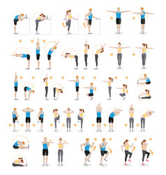 man and woman workout fitness aerobic and vector image
