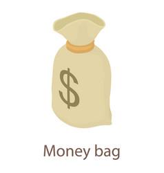 money bag icon isometric 3d style vector image