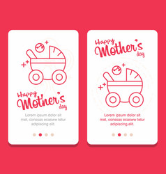 mothers day greeting card with flowers background vector image