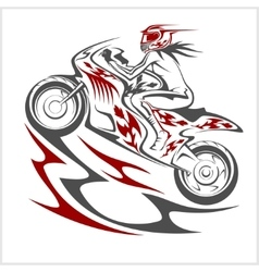Motorcycle racer sport vector