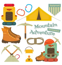 mountains equipment isolated vector image