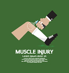 Muscle Injury With Spray Healing vector