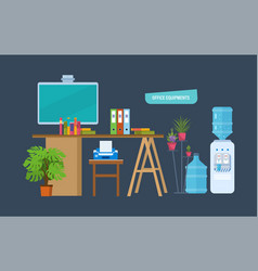 office equipments workplace vector image