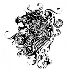 oriental lion vector image