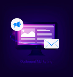 outbound marketing concept vector image