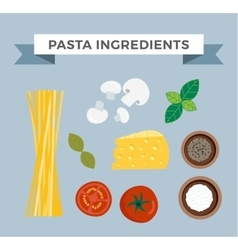 Pasta ingredients vector image