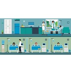 Patient room vector