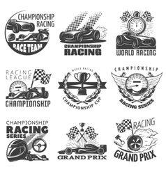 Racing Emblem Set vector image