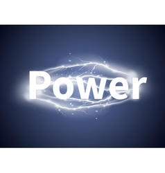 Realistic lightnings with word Power vector