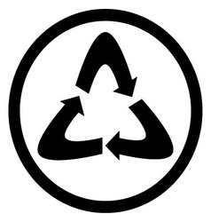 Recycle icon black vector image