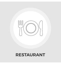 Restaurant flat icon vector image