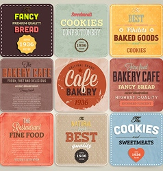 Retro Bakery Label Set vector image