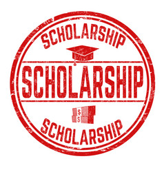 Scholarship sign or stamp vector