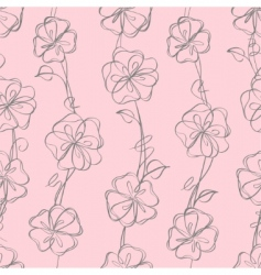 seamless floral white vector background vector image