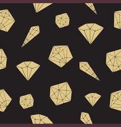 Seamless pattern crystal geometric crystals vector