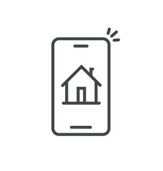smart home on phone line vector image