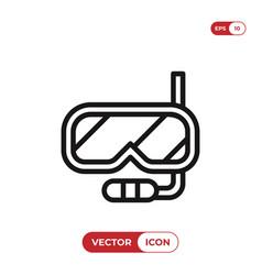 snorkel icon vector image