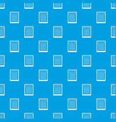 spiral notepad pattern seamless blue vector image