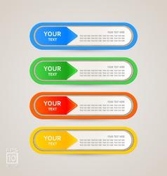 Sticker Label color set vector image