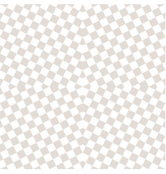 subtle checkered seamless pattern white and beige vector image