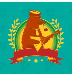 Symbol Bear With Balalaika vector image