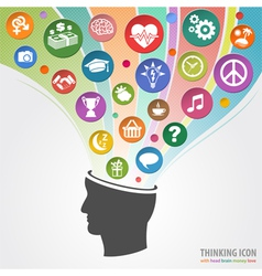 Thinking Head Icon vector image