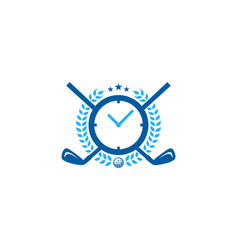 time golf logo icon design vector image