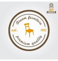 Vintage logo badgeemblem or logotype for vector image
