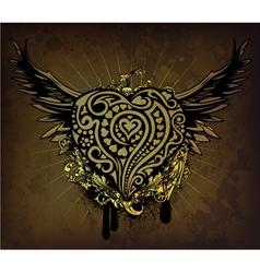 vintage valentine emblem vector image