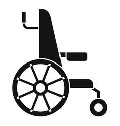 Wheelchair icon simple style vector