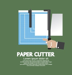 Working With Paper Cutter vector image