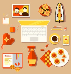 Workplace of housewife vector