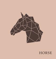 geometric horse head vector image vector image