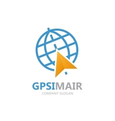 gps logo Point on map symbol vector image