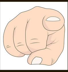 hand with index finger pointing at the viewer vector image vector image