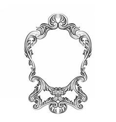 Rococo Mirror frame decor vector image vector image