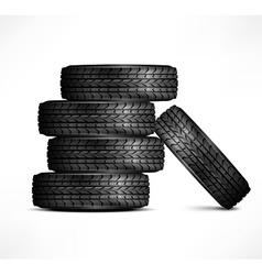 Rubber tires vector image vector image
