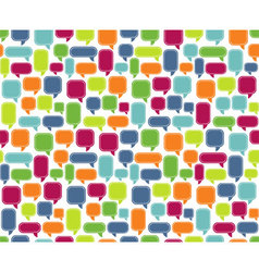 Seamless Comments Background vector image vector image