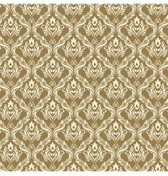 Seamless Damask Wallpaper 3 Beige Color vector image