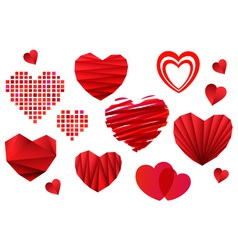 Valentines Day Heart Collection vector image