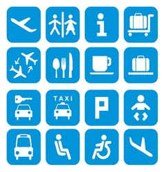 Airport icons - pictogram set vector image