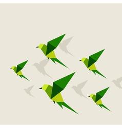 Bird abstraction2 vector image vector image