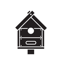 bird nesting box icon vector image