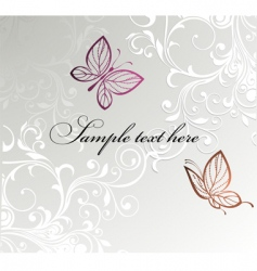 butterfly card design vector image vector image