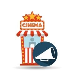 cinema movie ticket office speaker graphic vector image vector image